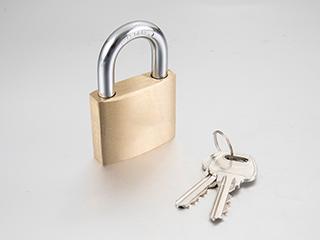 Copper padlock