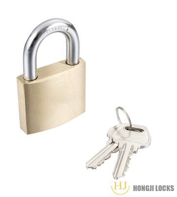 Thick type padlock 40-Brass,Self locking